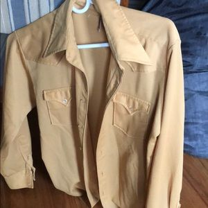 H&C vintage western yellow shirt